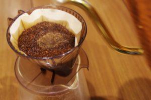 ドリップ後のコーヒーかす